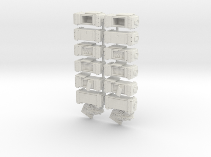 35mm - Ammo Boxes 3d printed