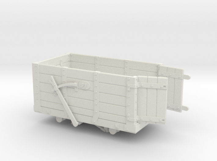 FR Wagon No. 97 7mm Scale Open Doors 3d printed