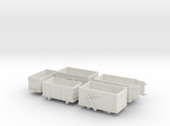 FR Wagon Multi Pack 7mm Scale 3d printed