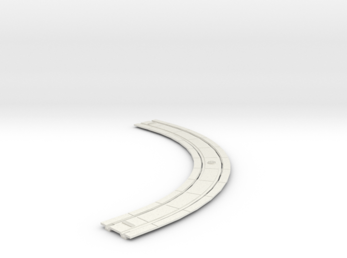 HO Concrete Trolley Track 7 CURVE 3d printed