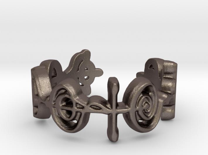 """Logical"" Vulcan Script Ring - Cut Style 3d printed"