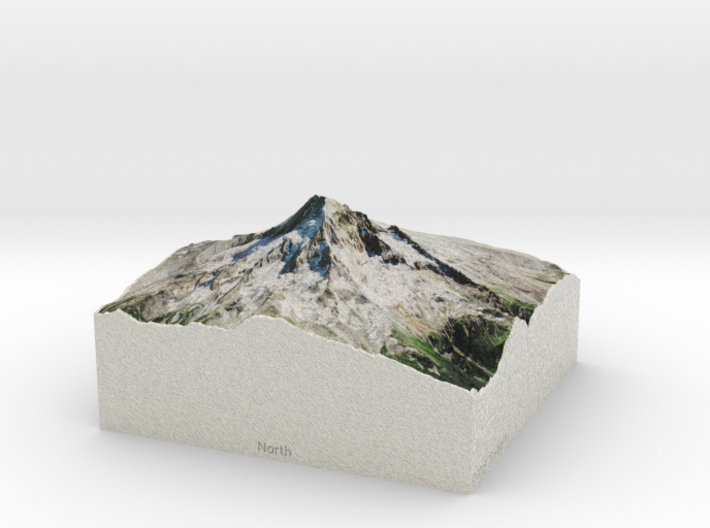 Mt. Hood, Oregon, USA, 1:50000 Explorer 3d printed