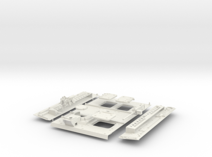 Stryker APC Back Kit(1:18 Scale) 3d printed