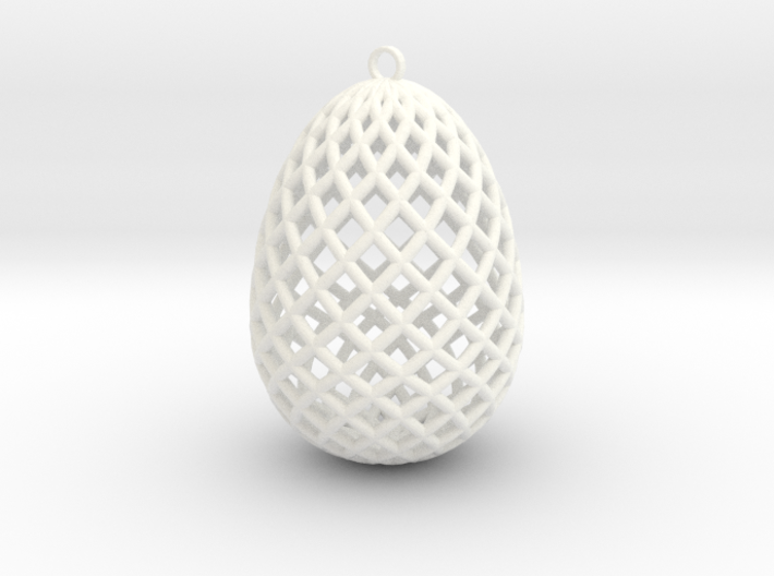 Easter Egg Ornament 3d printed