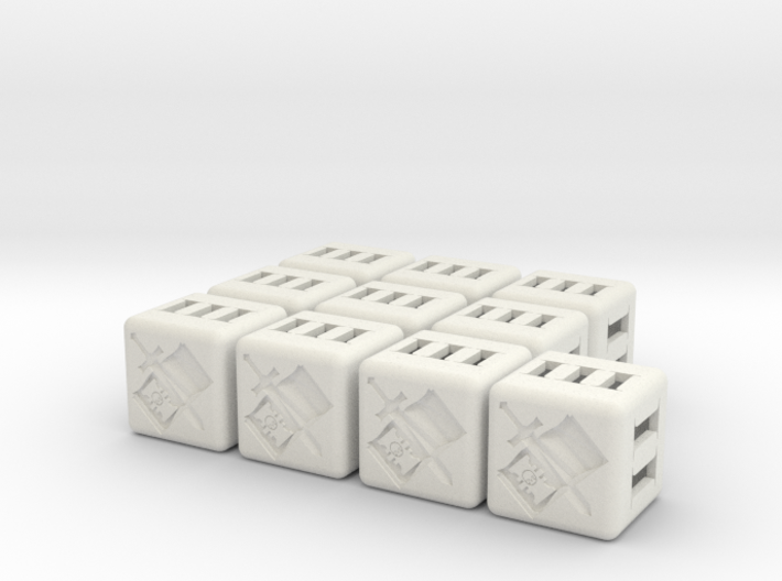 Grey Knights Dice - 10 pack (20mm) 3d printed