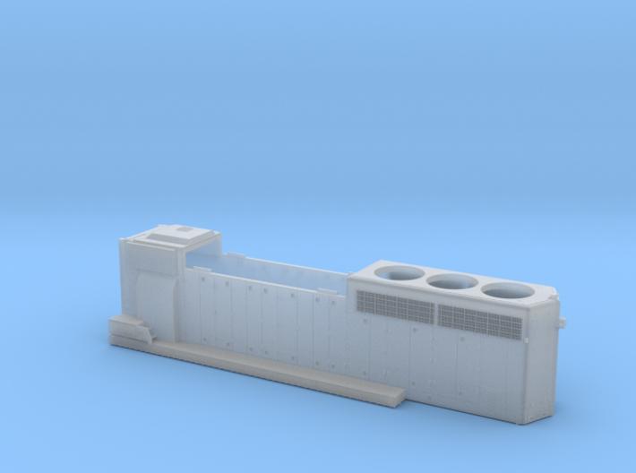 CN9400-9530 GP40-2LW Hood - Modified 1/87.1 3d printed