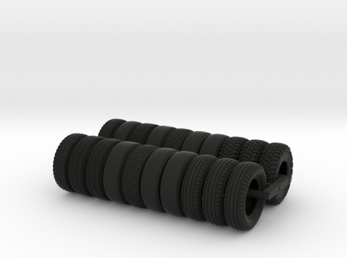 Spare Tires For Tugboat Set 3d printed