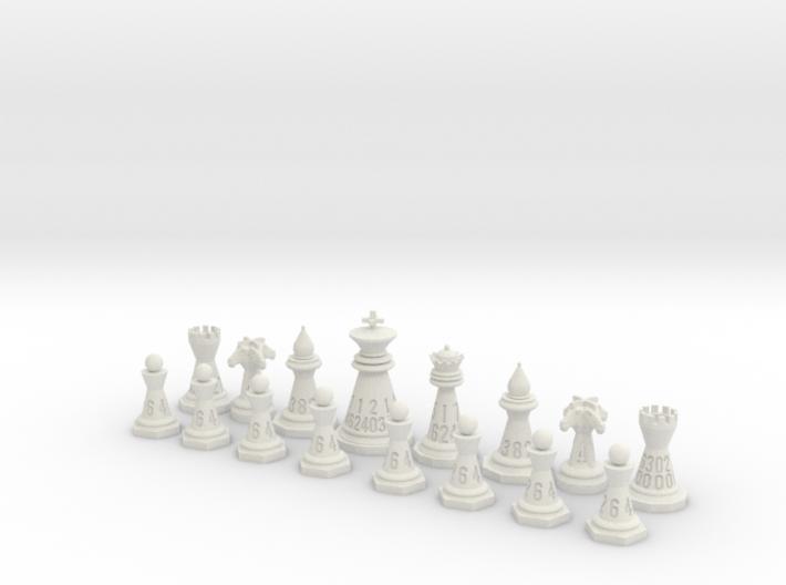 16 Chess Piece Dice Set 3d printed