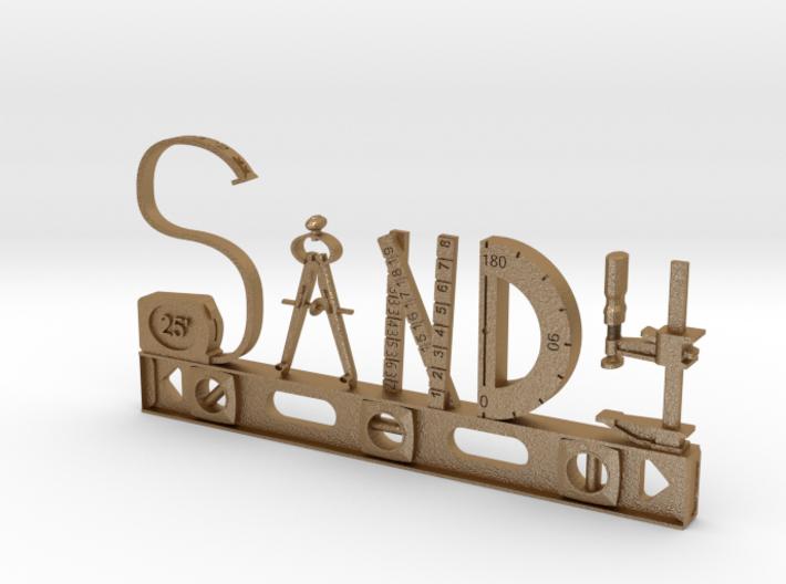 Sandy Nametag 3d printed