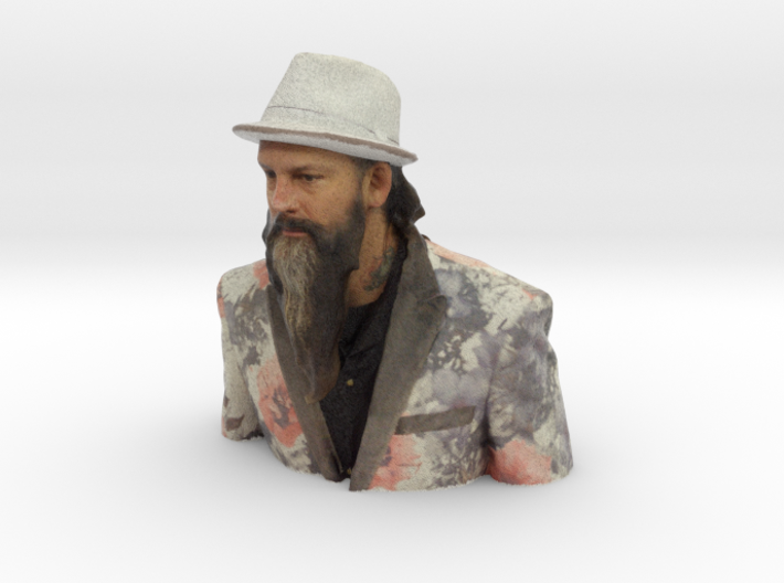 Troy Timpel - Heroes of Tattoo 150mm bust 3d printed