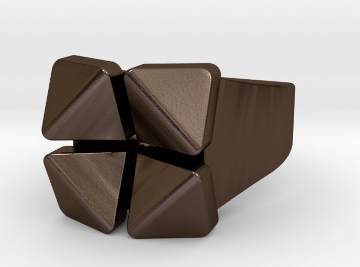 Box Flower - Steel Materials 3d printed