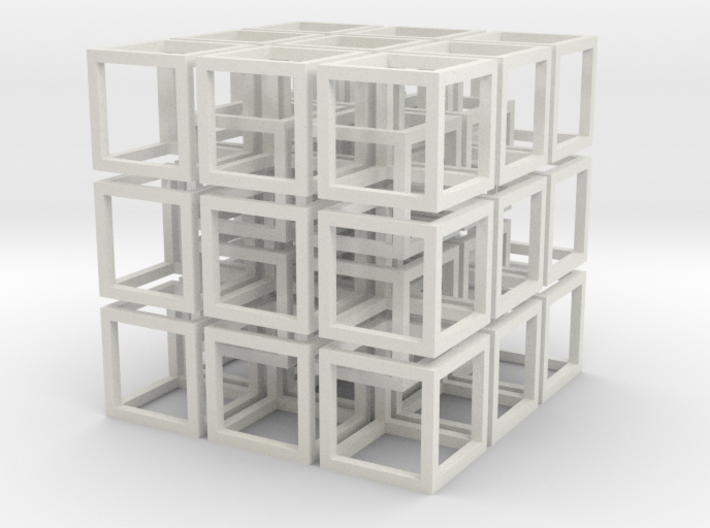 Interlocked Cubes - 3D Printed - SLS Technology 3d printed