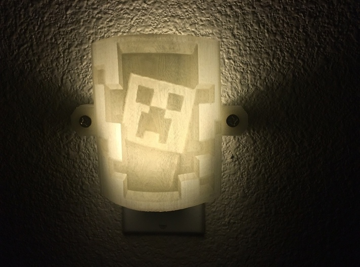 Minecraft Lithophane Nightlight Cover 3d printed