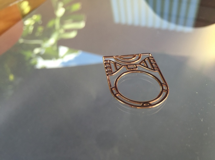 Screaming Warrior One RING - 5 3/8 3d printed