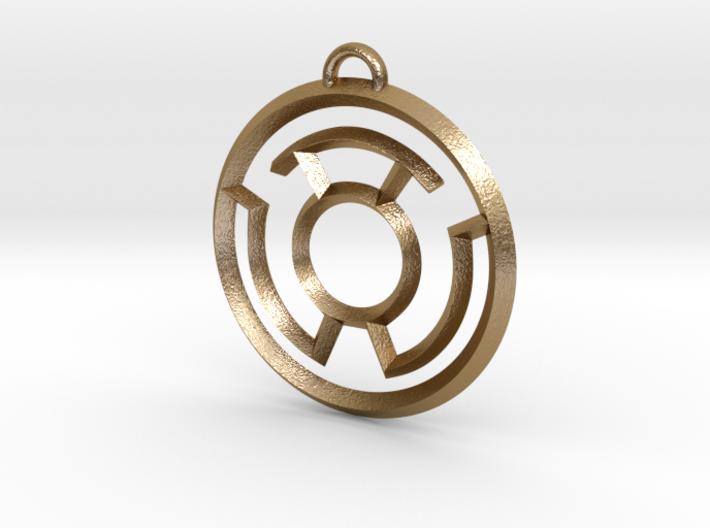 Yellow Lantern Keychain 3d printed