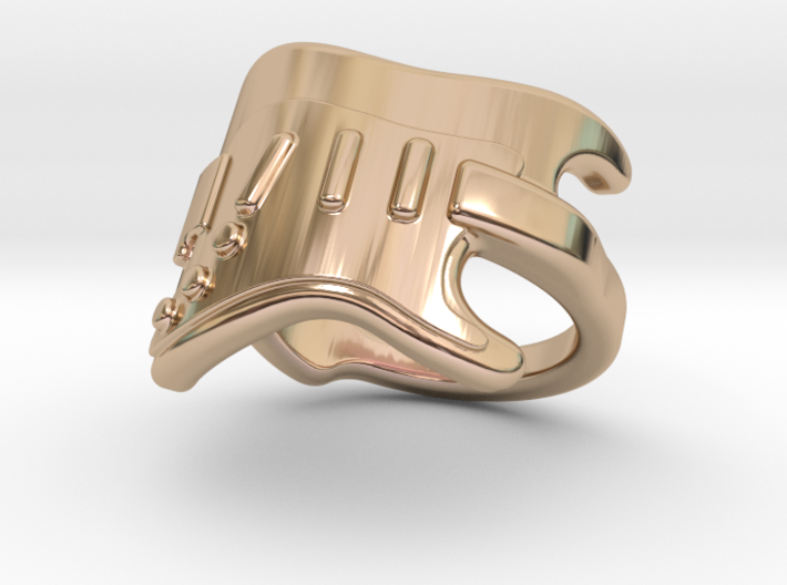 Electric Guitar Ring 14 - Italian Size 14 3d printed