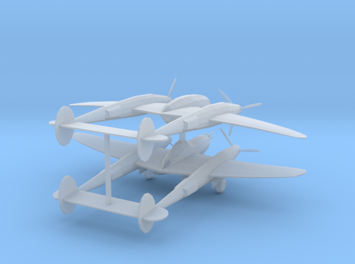 P38 Lighting Zscale 3d printed 2 P-38 lighting Z scale