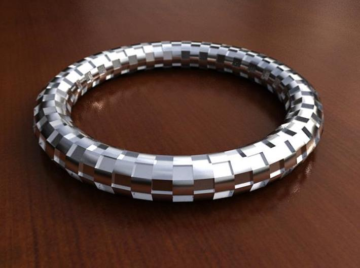 Bangle Bracelet - Checkerboard Pattern 3d printed