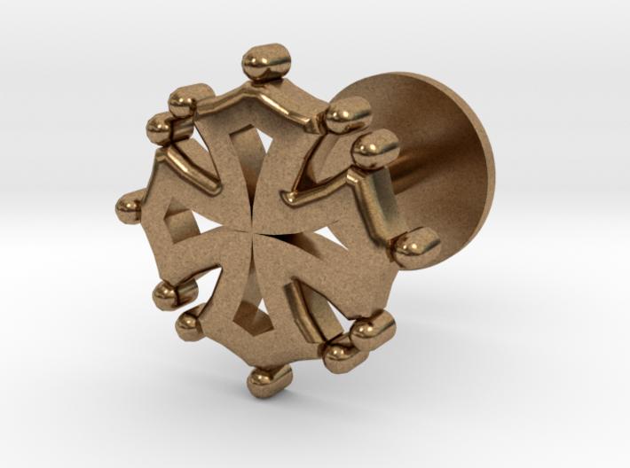 Creu Cufflink 3d printed