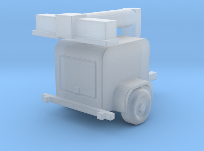 Light Tower Trailer Folded Arm 1-87 HO Scale 3d printed