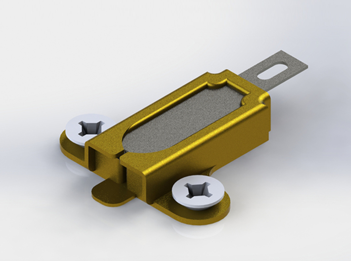 Plastic Bottle String Cutter - Brass 3d printed Brass is recyclable!