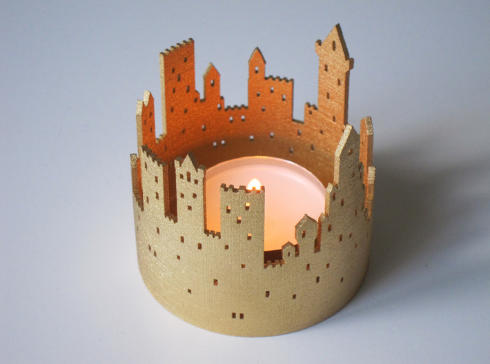 Burning Middle Ages (tea light) 3d printed