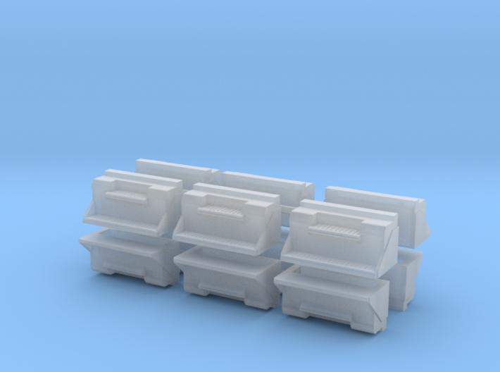"""1/87th kenworth 36"""" toolbox builders pack of 12 3d printed"""