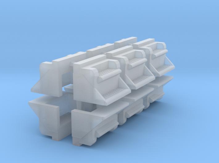 """1/64th 24"""" Kenworth Step Toolbox builders pack 12 3d printed"""