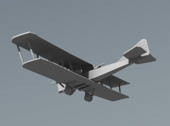 Farman F.50 3d printed Computer render 1:144 Farman F.50