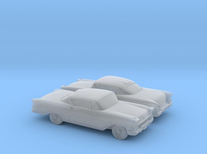 1/148 2X 1958 Chevrolet Impala 3d printed