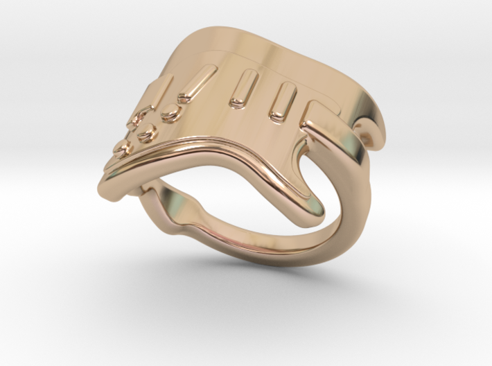 Electric Guitar Ring 31 - Italian Size 31 3d printed