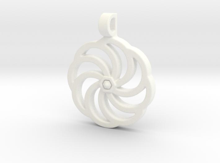 Wheel Of Eternity Pendant 3d printed