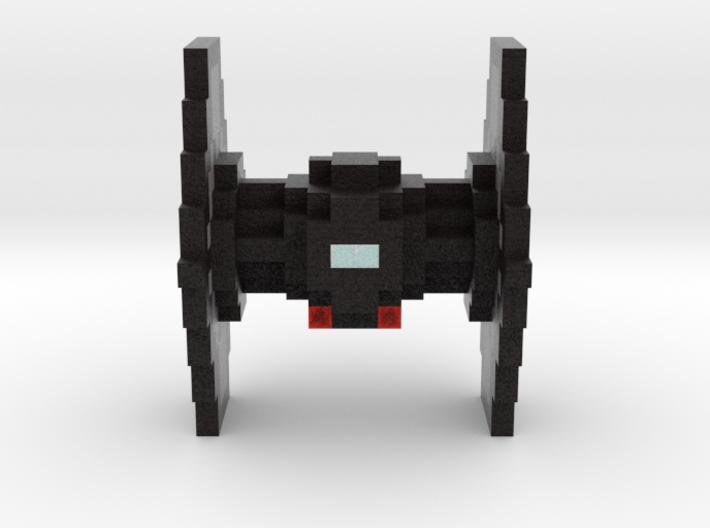 Minecraft Star Wars TIE Fighter 3d printed