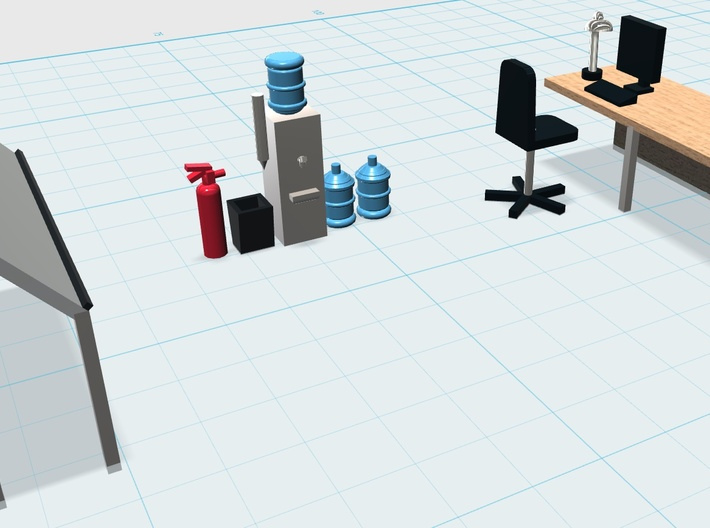 1:76 OO//HO Interior Scenery Layout 1:87 1x 3D printed OFFICE DRAWER UNIT 1:72