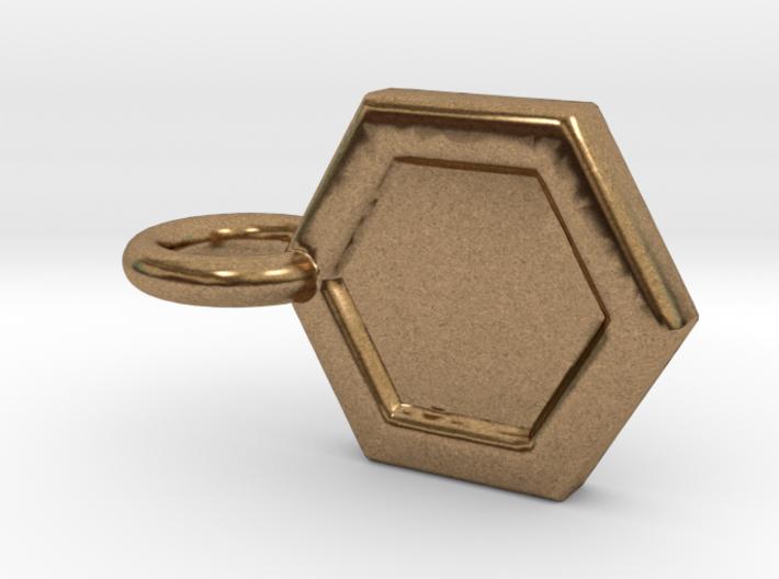 Honeycomb Charm 3d printed