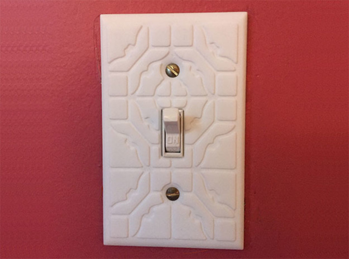 ShapeJS Light Switch 3d printed