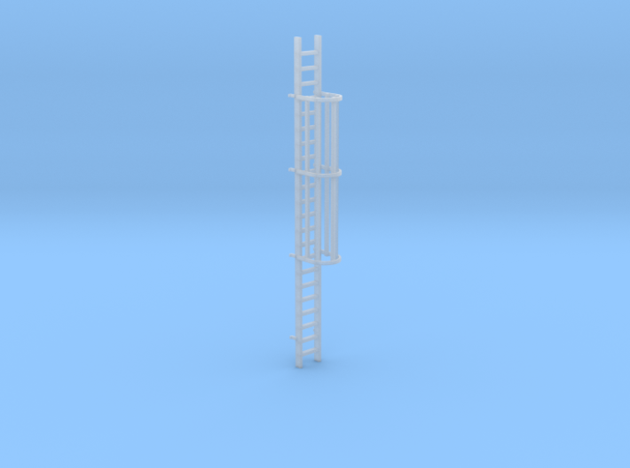 'HO Scale' - 20' Caged Ladder 3d printed