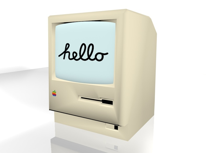 (bigger) Macintosh 128k 3d printed