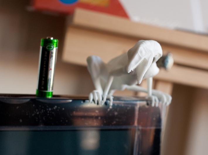 "Compy dinosaur desktop figurine 3d printed TV is 43"""