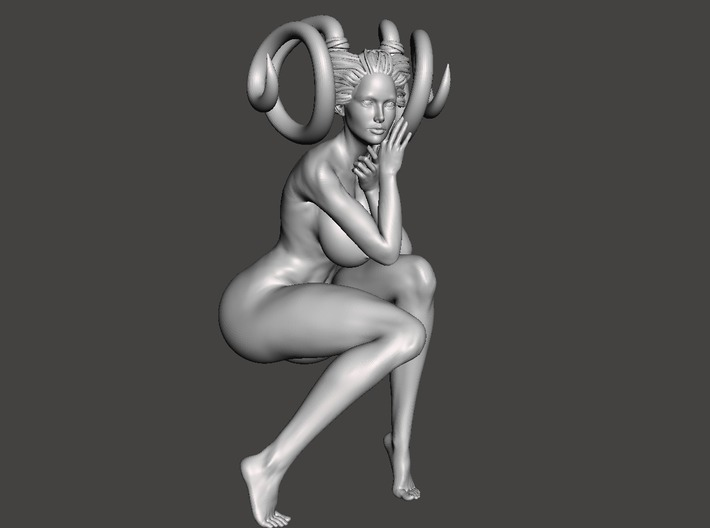 Evil Girl-Sexy Pose-009-25cm 3d printed