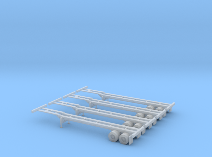 N 40' Container Chassis 4.Pack 3d printed