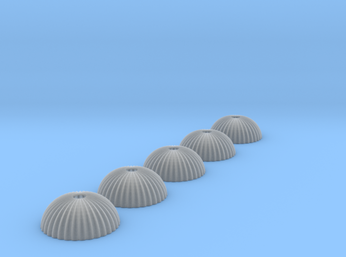 1/350 scale army parachute para Fallschirm 5 of 3d printed