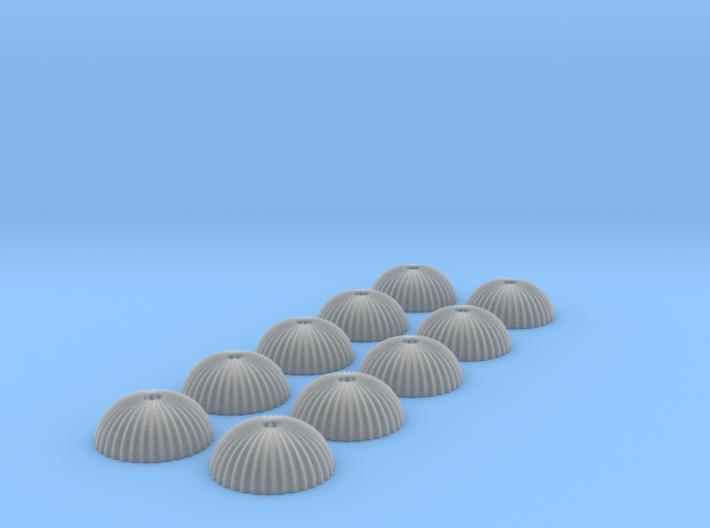 1/350 scale army parachute para Fallschirm 10 of 3d printed