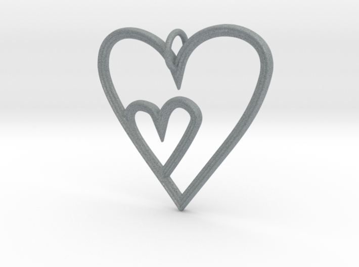 Heart Mother Child Pendant 3d printed