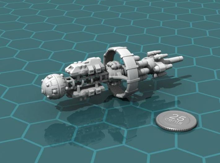 Belter Carrier 3d printed Render of the model, with a virtual quarter for scale.