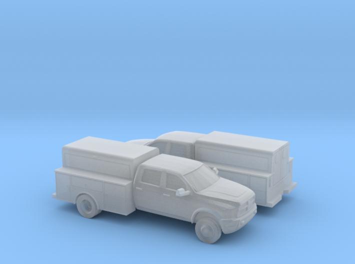 1/160 2X 2009-15 Dodge Ram Crew Utility 3d printed