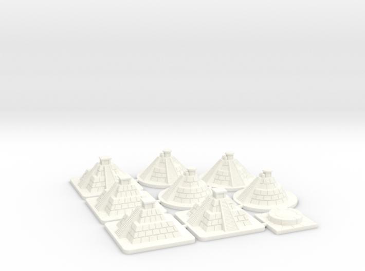 SOL Pyramids & Altar (9 pcs) 3d printed