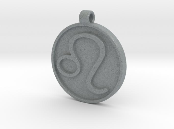 Zodiac KeyChain Medallion-LEO 3d printed