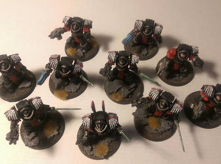 5x Angel Legion 1= Cataphractii Shoulder Sets 3d printed Thank you Chris Bannon