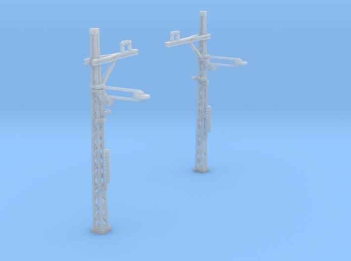 2x Streckenmast mit Fahrdrahtspanner (N 1:160) 3d printed